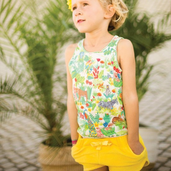 arsene-pipelettes-debardeur-jungle-jaune-short-fille-eponge (1)